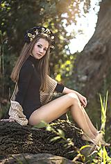 Ozdoby do vlasov - Čierna kvetinová parta - 9876791_