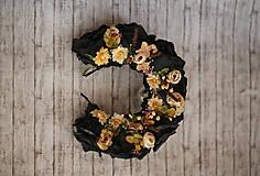 Ozdoby do vlasov - Čierna kvetinová parta - 9876797_