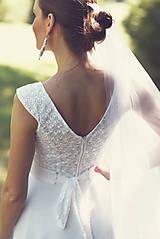 Šaty - Svadobné šaty s opaskom - 9874368_