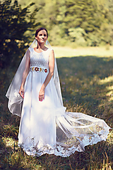 Šaty - Svadobné šaty s opaskom - 9874369_