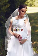 Šaty - Svadobné šaty s opaskom - 9874370_