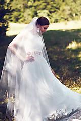Šaty - Svadobné šaty s opaskom - 9874371_
