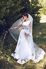 Šaty - Svadobné šaty s opaskom - 9874372_