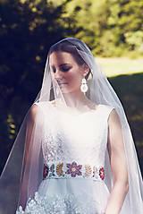 Šaty - Svadobné šaty s opaskom - 9874373_