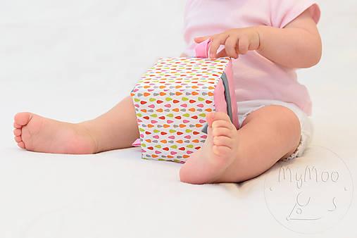 Hračky - Úchopová kocka - busy cube, kvapky - 9875642_