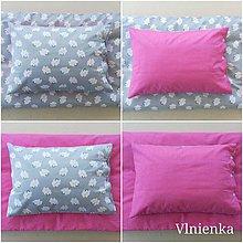 Textil - Obojstranné obliečky do postieľky 100% bavlna BODKA ružová a Obláčiky - 9874942_