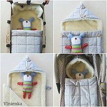 Textil - RUNO SHOP fusak pre deti do kočíka 100% ovčie runo MERINO TOP super wash ELEGANT grey - 9876657_