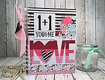 Papiernictvo - You&me zápisník-svadobný plánovač - 9875351_