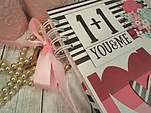 Papiernictvo - You&me zápisník-svadobný plánovač - 9875368_