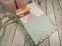 Papiernictvo - You&me zápisník-svadobný plánovač - 9875371_