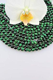 Minerály - tigrie oko zelené 6mm korálky - 9875030_