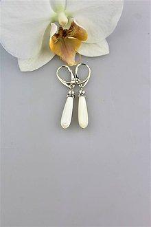 Náušnice - perleť náušnice slzičky - 9876211_