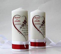 Svietidlá a sviečky - Sviečka s venovaním pre svadobných rodičov - 9875423_