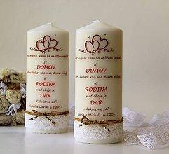 Svietidlá a sviečky - Sviečka s venovaním pre svadobných rodičov - 9875439_