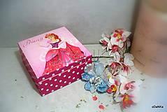 Krabičky - drevená šperkovnica Princess - 9876682_