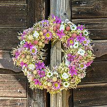 Dekorácie - Prírodný venček na dvere - 9874671_