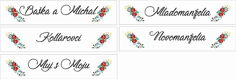 Tabuľky - Svadobná tabuľka na auto - špz 26 (folk - ľudový motív) - 9876173_