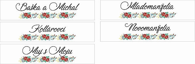 Tabuľky - Svadobná tabuľka na auto - špz 25 (folk - ľudový motív) - 9876171_
