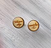 Šperky - Manžetové gombíky s textom živicové - 9874546_