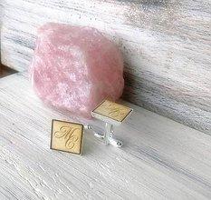 Šperky - Manžetové gombíky - Iniciály (prírodné) - 9874523_