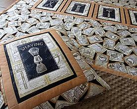 Úžitkový textil - Minky deka pre mužov I. - 9874941_