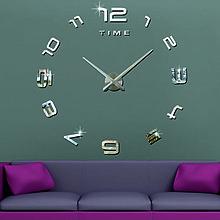Hodiny - 2D nástenné hodiny-LAZARE s08s (Oranžová) - 9875277_