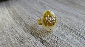 Prstene - Živicový prsteň ovál - 9875774_