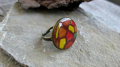 Prstene - Prsteň väčší guľatý (jesenná mozaika, č.2336) - 9875941_