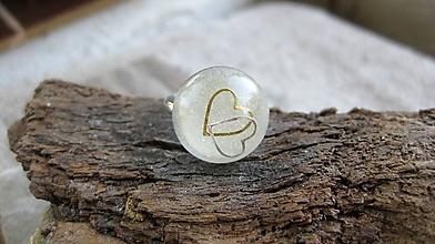 Prstene - Živicový prsteň guľatý - chirurgická oceľ - 9876060_