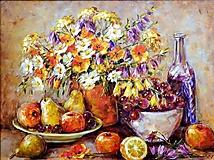 Obrazy - Veľké jesenné zátišie - 9874549_