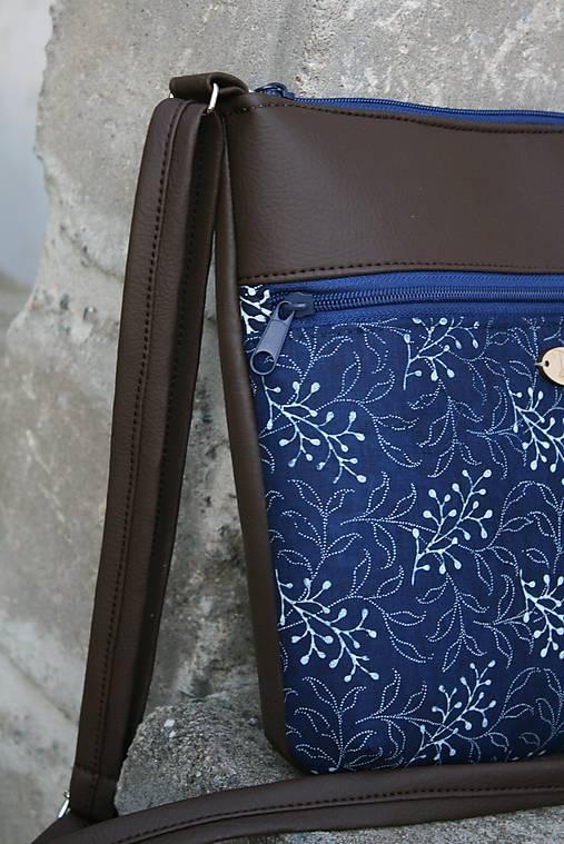 kabelka Molly modrotlačová tmavohnedá 1
