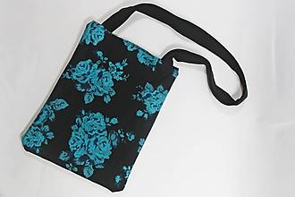 Nákupné tašky - Plátená taška zelený kvet - 9875032_