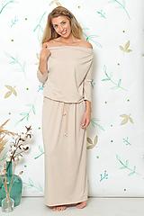 Šaty - Šaty Boho - béžové, vel. S - L - 9874772_