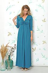 Šaty - Anett Femme emerald- šaty vhodné i těhotné - 9874821_