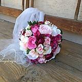 - svadobná kytica..malinovo sladká - 9875998_