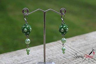 Náušnice - náušnice s perličkami predĺžené - 9877194_