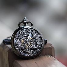 Iné - Mechanické vreckové hodinky s krúžkovanou reťazou (38) - 9879404_