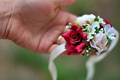 Náramky - Pôvab červených ruží - 9878996_