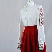 Košele - Dámska košeľa ruže - 9879213_