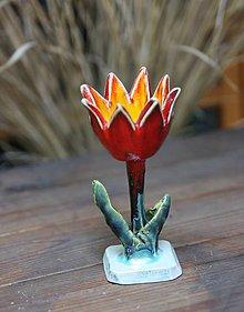 Dekorácie - tulipán červeno - žltý - 9877278_