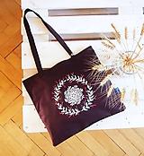 Nákupné tašky - Ekotaška maľovaná - hnedá - 9878977_