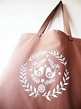 Nákupné tašky - Ekotaška maľovaná - okrová - 9879851_