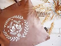 Nákupné tašky - Ekotaška maľovaná - okrová - 9879853_