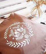 Nákupné tašky - Ekotaška maľovaná - okrová - 9879854_