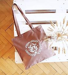 Nákupné tašky - Ekotaška maľovaná - okrová - 9879855_