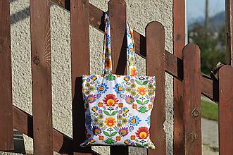 Veľké tašky - Ekotaška folklórna s maxi uškami - 9879068_