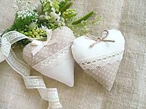 Svadobné srdiečka - kappucccino