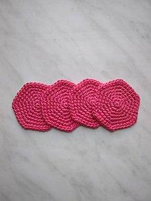 Úžitkový textil - Odličovacie tampóny (Ružová) - 9879275_