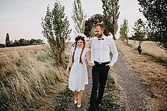 Šaty - svadobné šaty madeirové folkové /biele - 9878435_