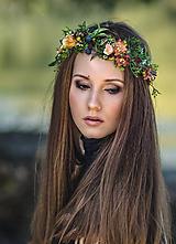 Ozdoby do vlasov - Kvetinový venček jeseň - 9880466_